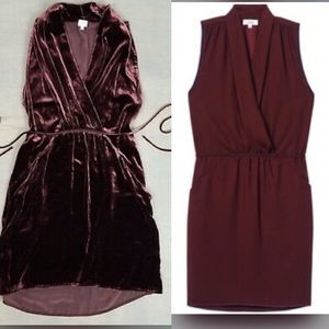 Wilfred xs velvet silk Sabine dress